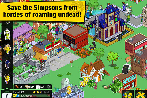 The simpsons: tapped out(springfield) игра симпсоны на андроид.